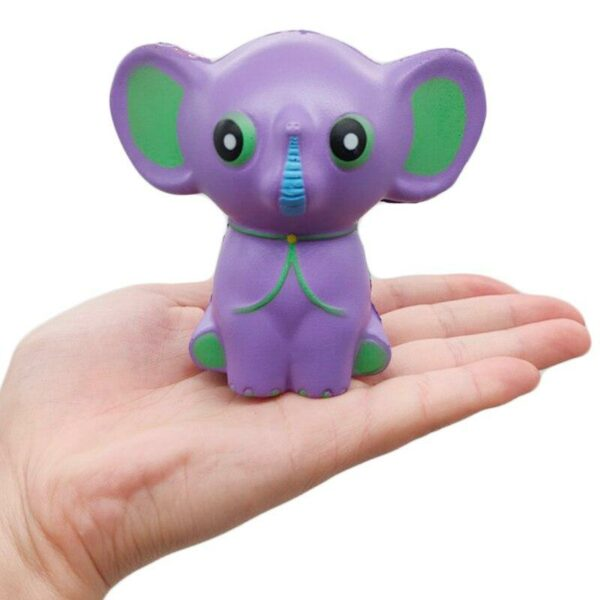 squishy éléphant violet