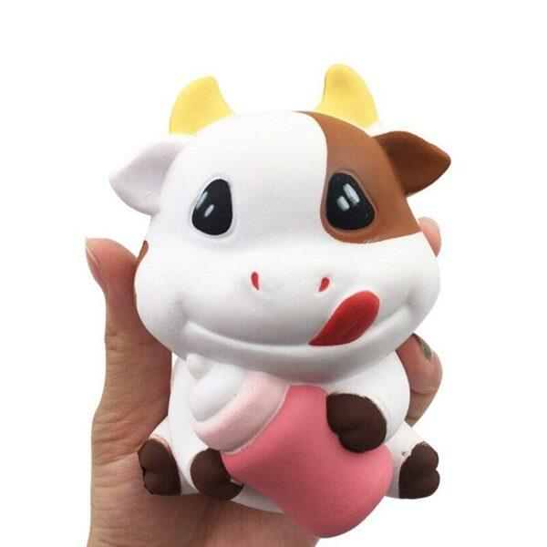 squishy vache dans la main