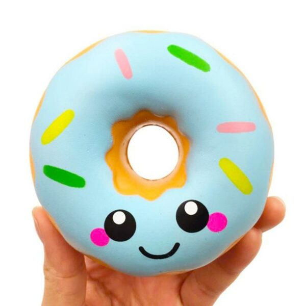 Squishy Donut bleu dans la main