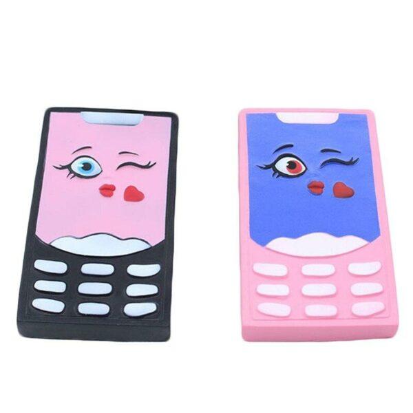 squishy telephone noir et rose