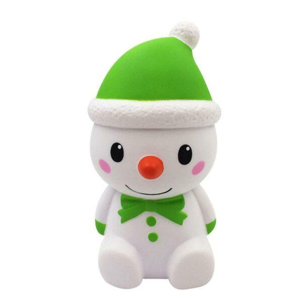 squishy bonhomme de neige vert