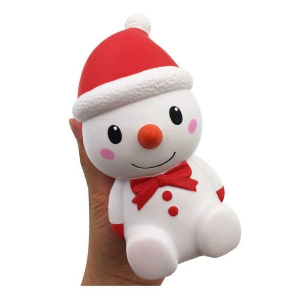 squishy bonhomme de neige dans la main