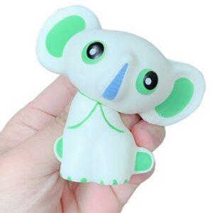 squishy éléphant blanc écrasé