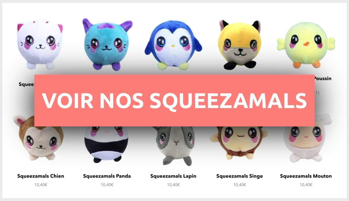squishy peluche squeezamals