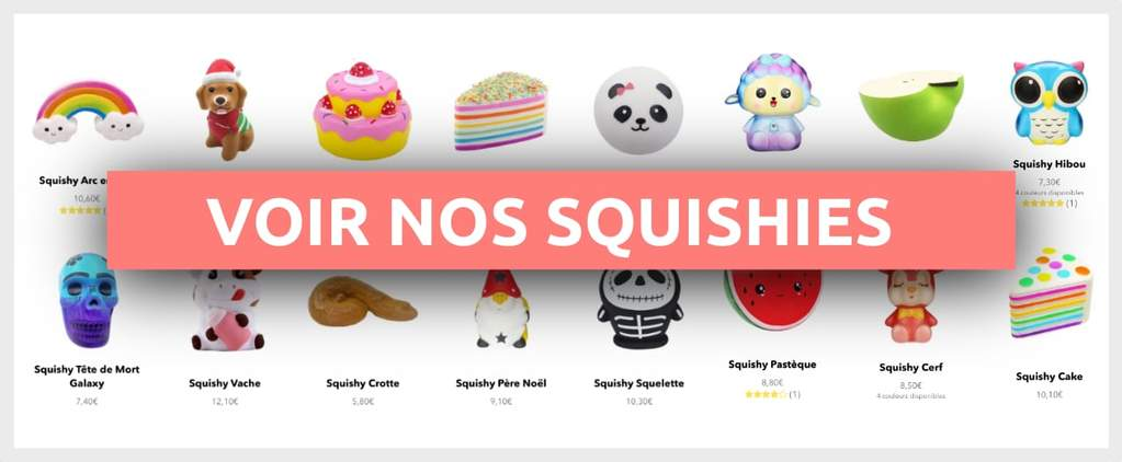 collection de squishy