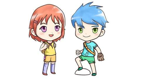 personnages kawaii