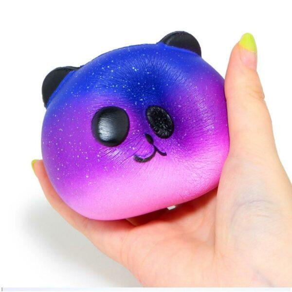 Squishy Tête de Panda Galaxy violet