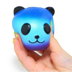 Squishy Tête de Panda Galaxy bleu