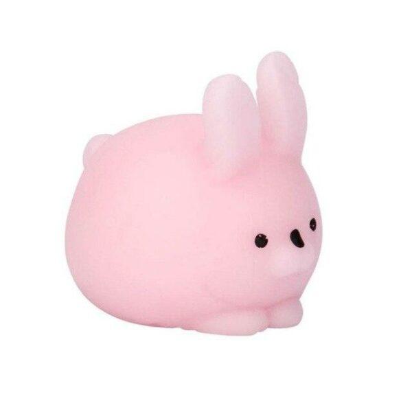 Squishy mochi lapin rose vu de profil