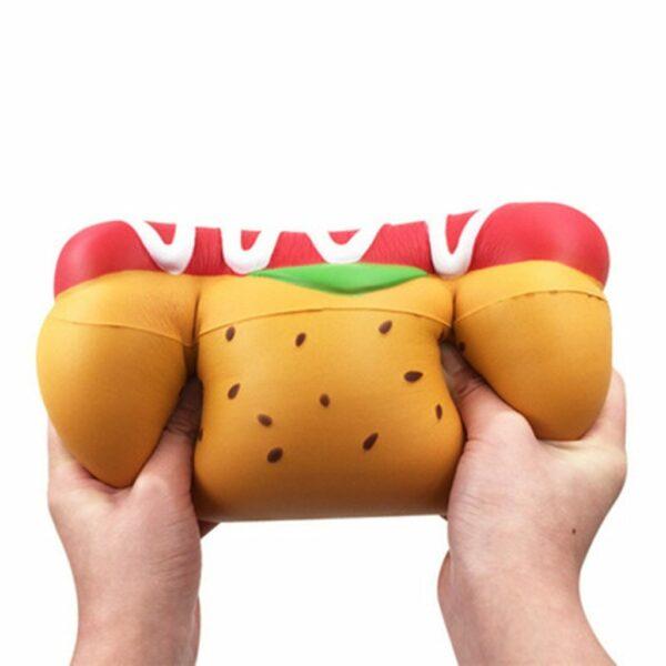 Squishy hot dog geant écrasé