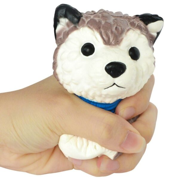 Squishy husky dans la main