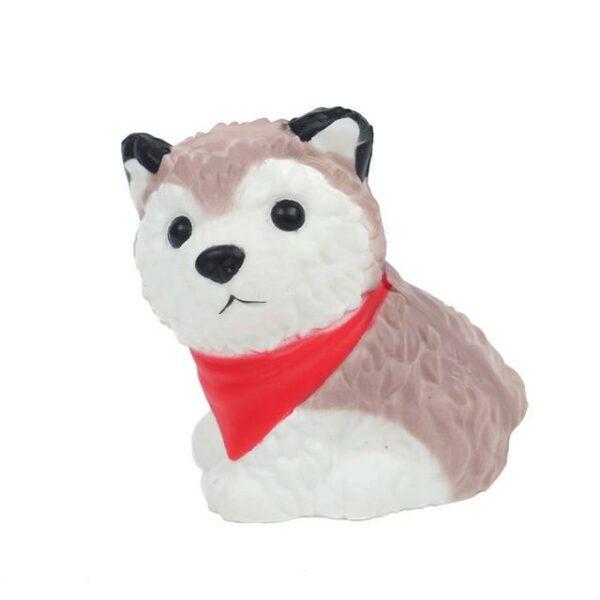 Squishy husky bandana rouge