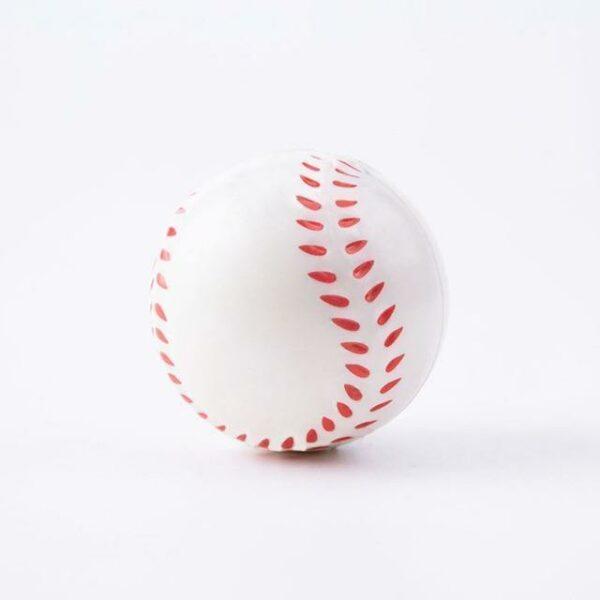 Squishy baseball vu de coté