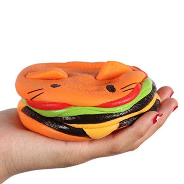 Squishy hamburger chat écrasé
