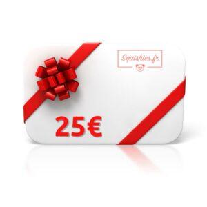 carte cadeau 25 euros