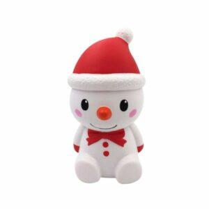 squishy bonhomme de neige rouge