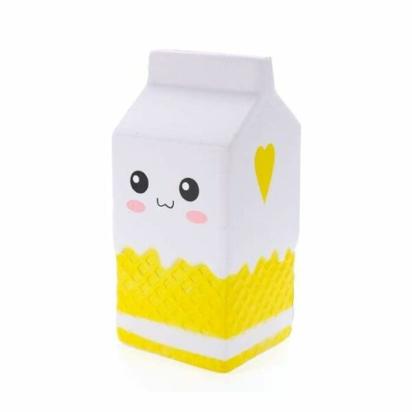 squishy brique de lait jaune