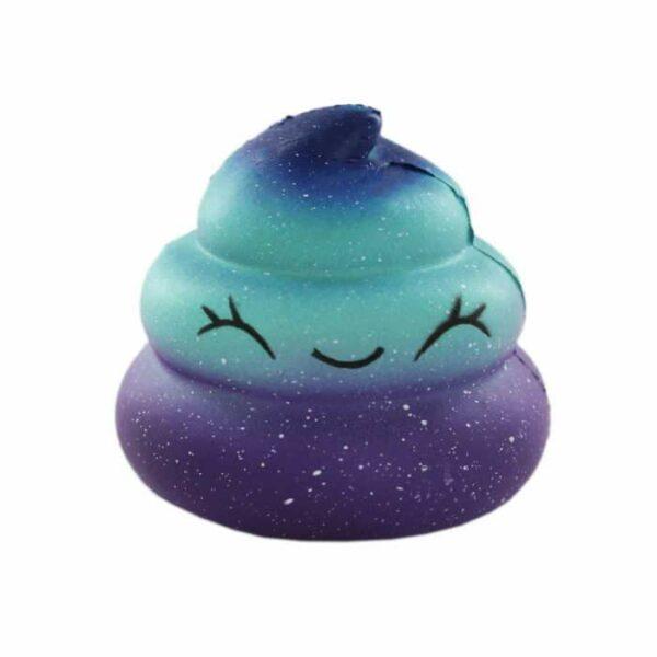 squishy caca galaxy bleu
