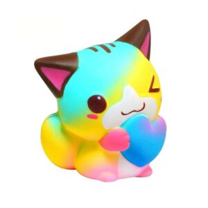 squishy chat arc en ciel