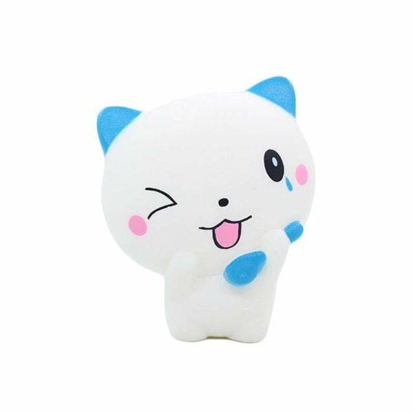 squishy chat blanc