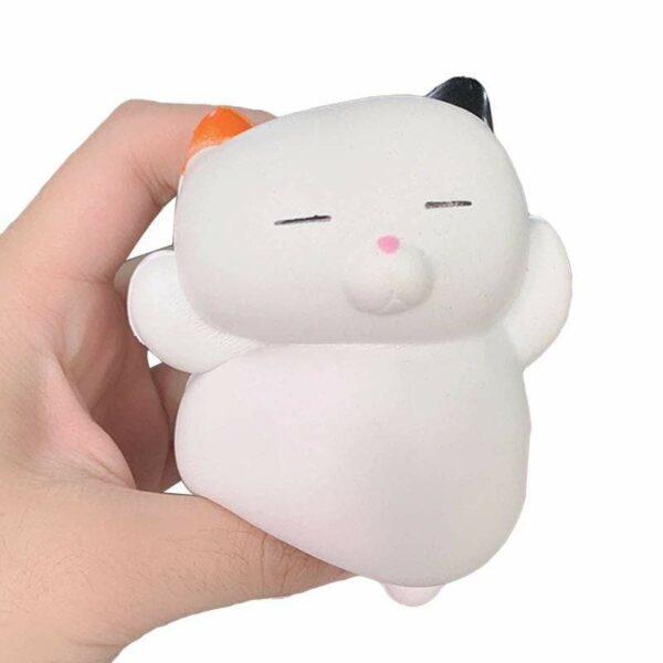 squishy chat kawaii pressé