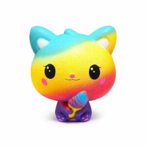 squishy chat multicolore
