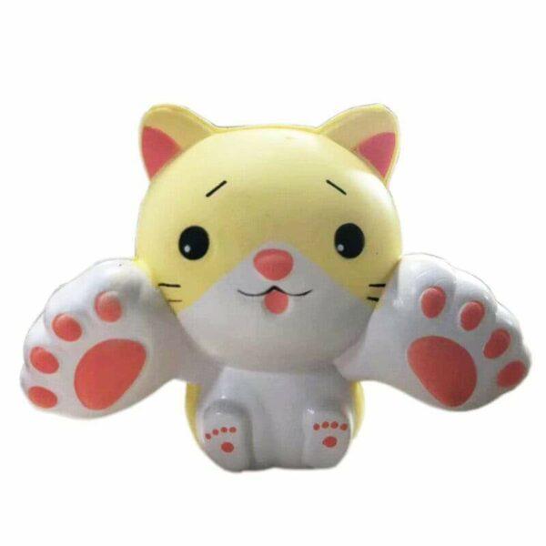 squishy chaton jaune