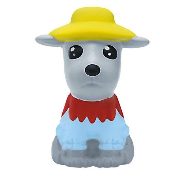 squishy chien kawaii gris