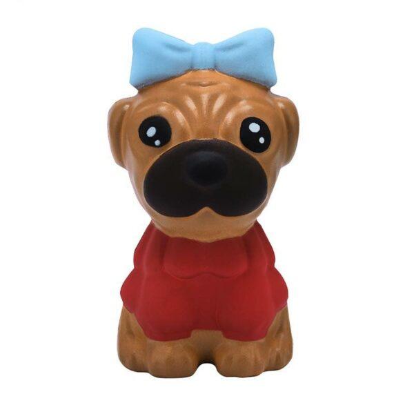 squishy chien kawaii marron