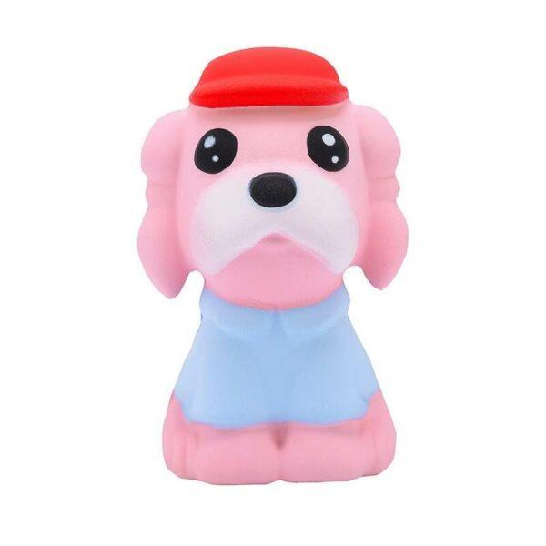 squishy chien kawaii rose