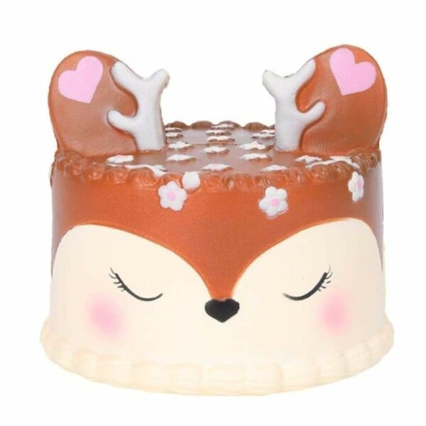 squishy gateau cerf marron