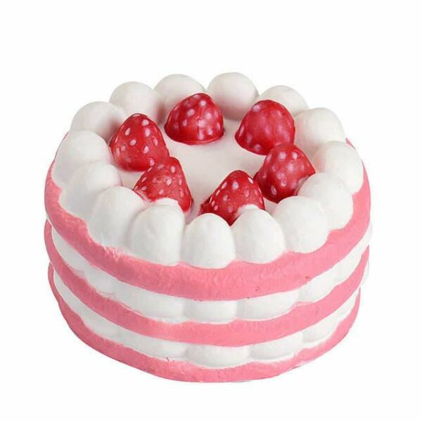 squishy gateau fraises rose