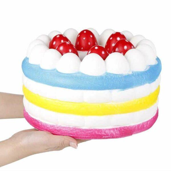 squishy gâteau géant vu de profil
