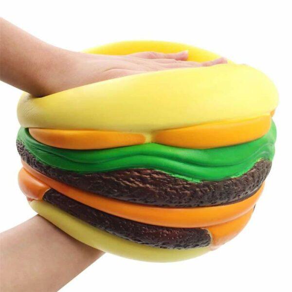 squishy géant cheeseburger écrasé