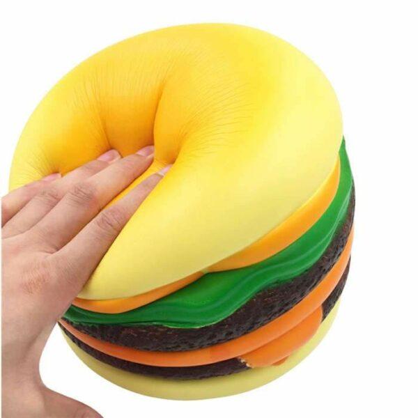 squishy géant cheeseburger pressé