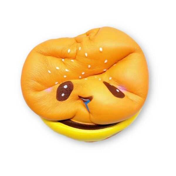 squishy géant hamburger kawaii compressé