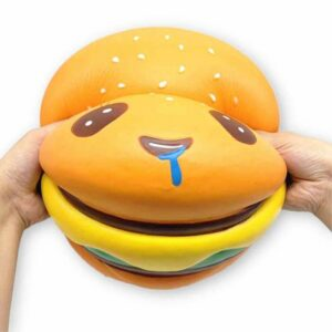 squishy géant hamburger kawaii écrasé