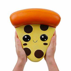 squishy géant pizza dans les mains