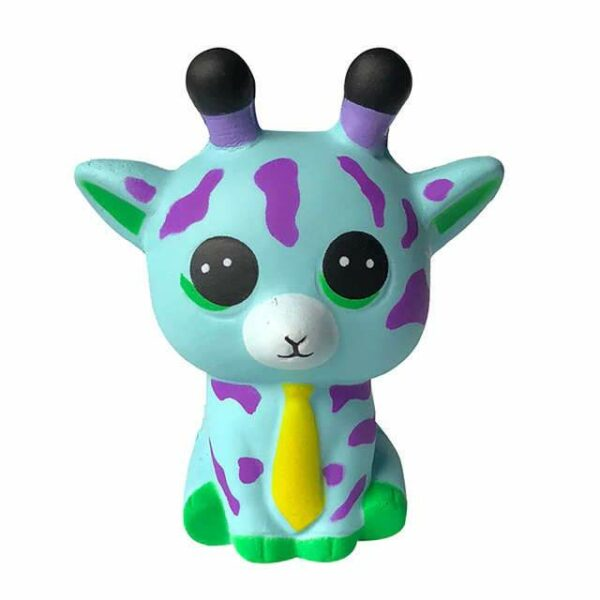 squishy girafe bleu