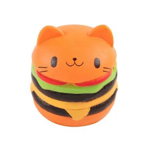 Squishy hamburger chat orange