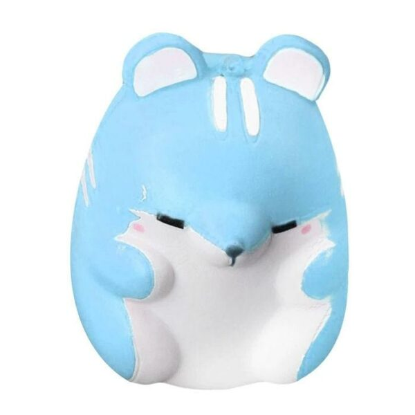 squishy hamster kawaii bleu