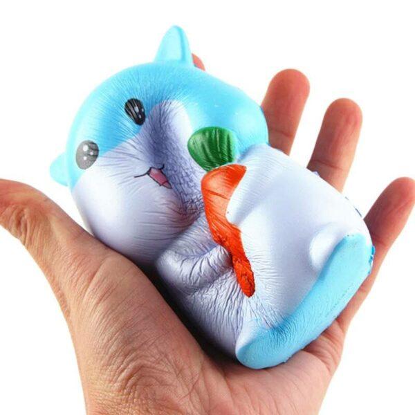 squishy hamster bleu écrasé