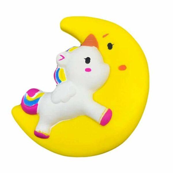 squishy licorne lune jaune