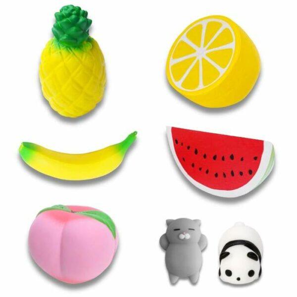 lot de squishy fruits
