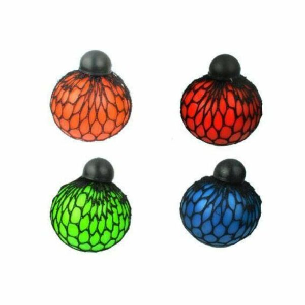 squishy mesh ball multicolore
