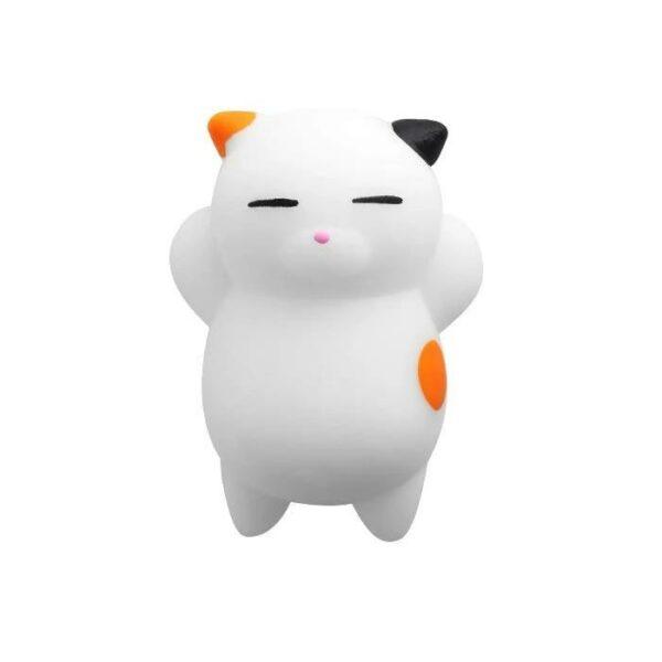 squishy mochi chat multicolore