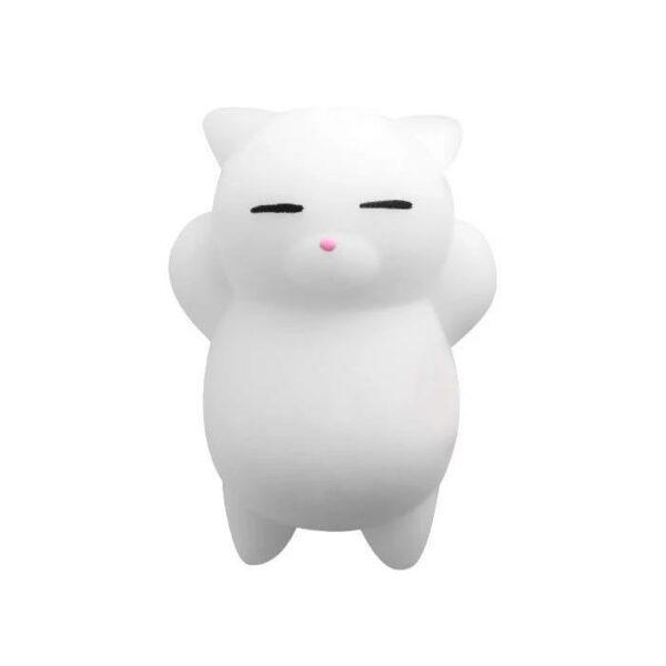 squishy mochi chat blanc