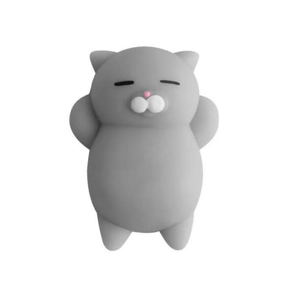 squishy mochi chat gris