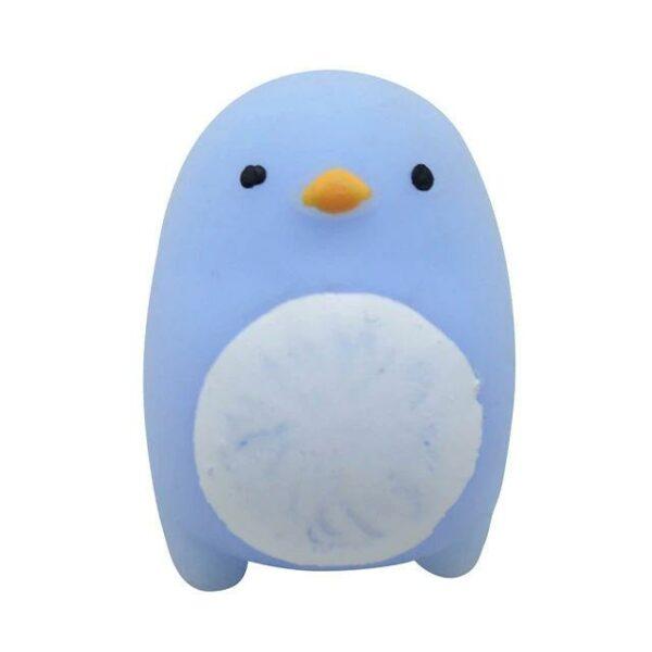 squishy mochi pingouin bleu
