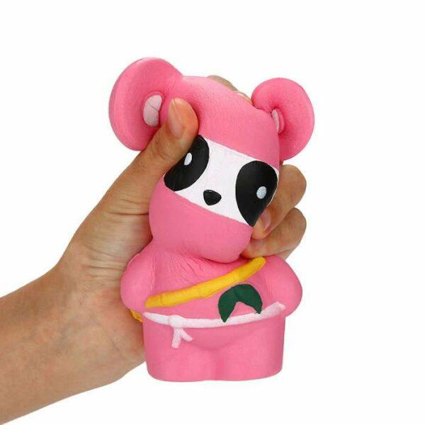 squishy panda ninja rose écrasé